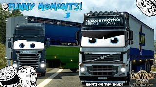 [DZ] Euro Truck Simulator 2 Multiplayer | Funny Moments & Crash Compilation | #03