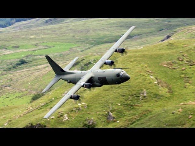 Ultra Low Pass Hercules C-130 Mach Loop CAD WEST.
