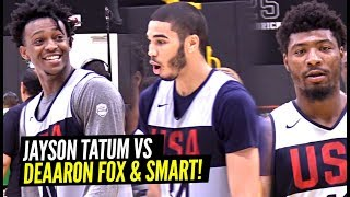 JAYSON TATUM vs DEAARON FOX Part 2!! Draymond  Green & DeMar DeRozan Come to USA Practice!