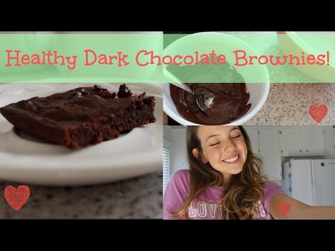 Cooking With Cayla: Healthy Dark Chocolate Brownies!