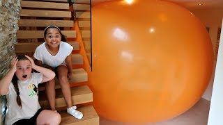 GIANT BALLOON STUCK IN MY HOUSE!!
