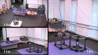 Thumb Quadrotors: Robots aéreos construyen una estructura automáticamente
