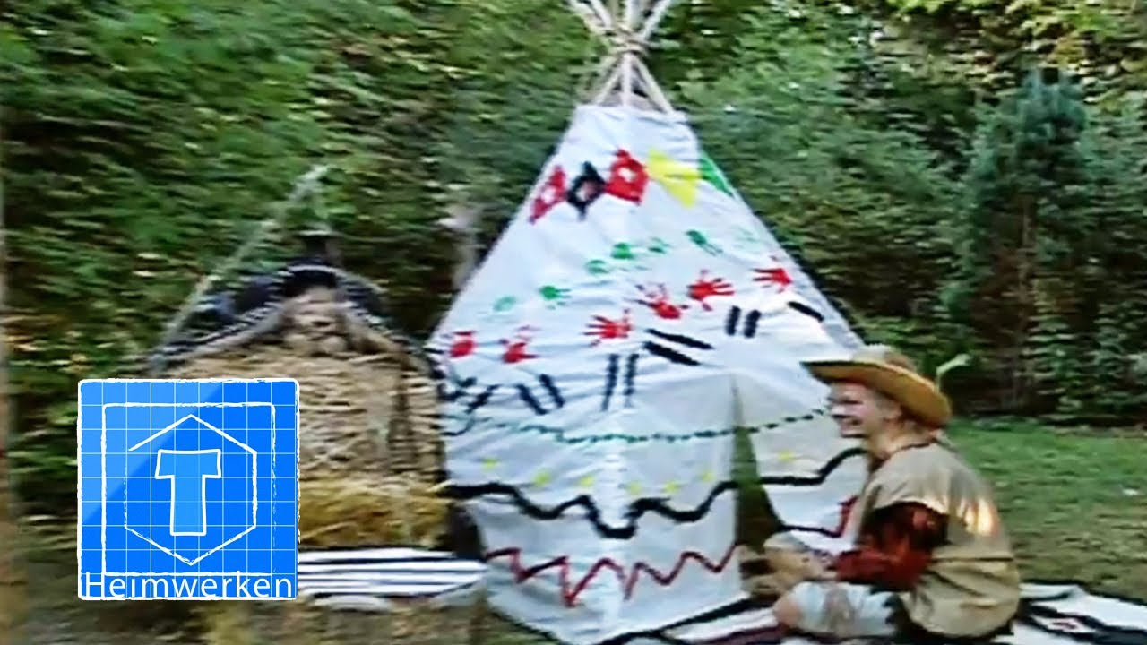 indianerzelt tipi kinderleicht bauen tooltown garten youtube. Black Bedroom Furniture Sets. Home Design Ideas