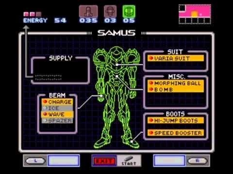 Misc Computer Games - Metroid - Item Room