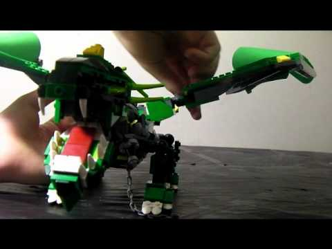 review 9-LEGO 8 in 1 creators dragon part 2