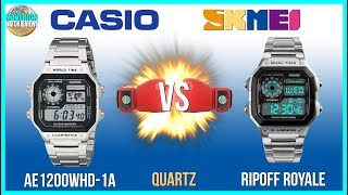 Watch Boxing! | Casio Royale 100m Quartz AE1200WHD-1A Vs. Chinese SKMEI Unbox & Review