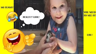TRY NOT TO LAUGH or GRIN CHALLENGE - *Funny Kids VS Animals Edition* 2018