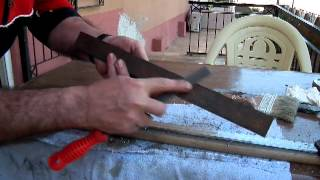 katana yüzey perdahı. ( Making the surface smooth of Katana)