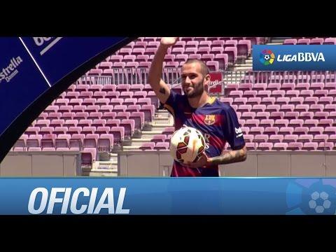Presentación de Aleix Vidal con el FC Barcelona: