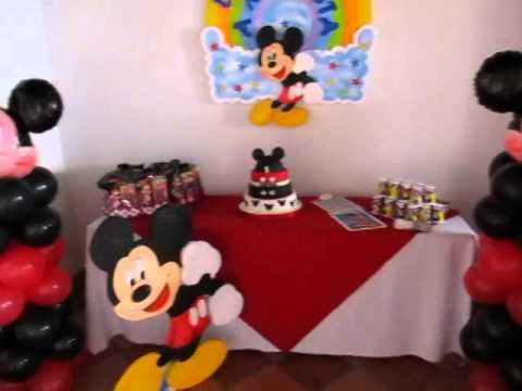 Decoracion mickey mouse fiesta tematica infantil youtube - Fiesta tematica mickey mouse ...