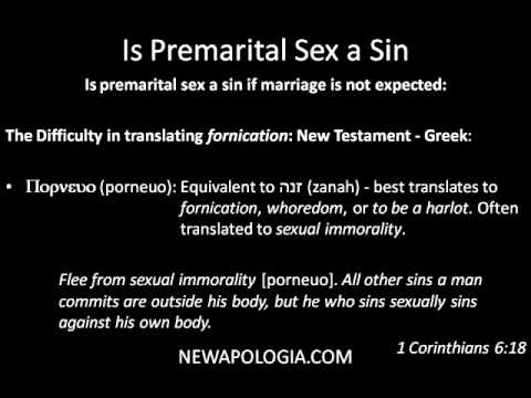 is having sex before marriage a sin