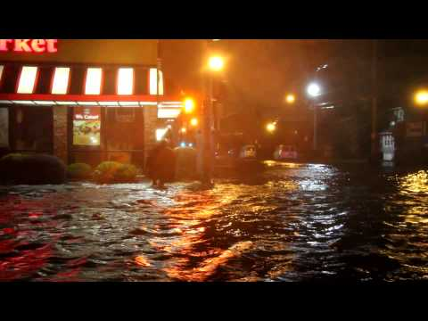 Hurricane Sandy Hits Freeport NY Part I
