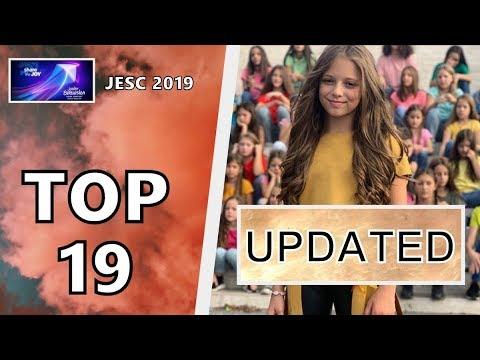 [TOP 19 UPDATED] JUNIOR EUROVISION 2019 | W/ EVOLUTIONS | JESC 2019