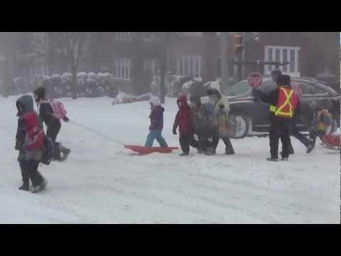 Toronto, Ontario Winter Snow Storm - Canada, eh ?