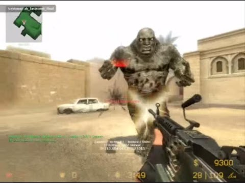 Counter Strike Source Zombie Horror boss fight