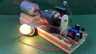 Electricity 2018 free energy self running machine generator light bulb 12V Using DC motor at home