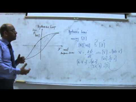 Magnetic Circuits V: Hysteresis and eddy current losses, 22/10/2013