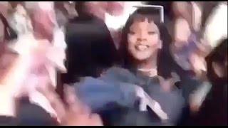 Rihanna getting hype during Kendrick Lamar