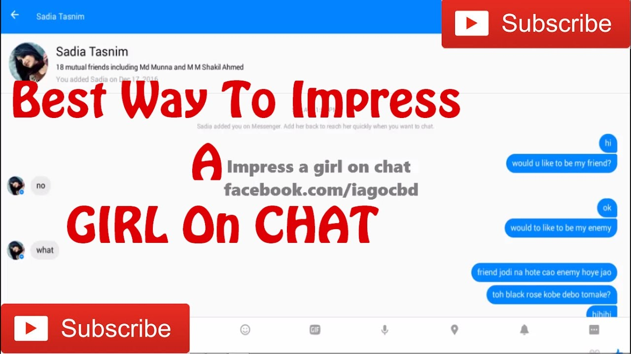 How to start online chat with unknown girl