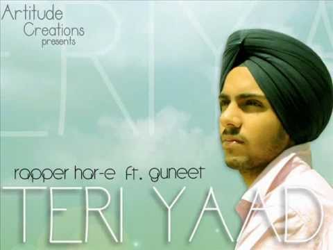 New Punjabi Rap Song By Rapper Har-e & Guneet | Teri Yaad | Official Audio video
