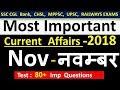 Current affairs : November 2018 | Important current affairs 2018 |  latest current affairs Quiz thumbnail