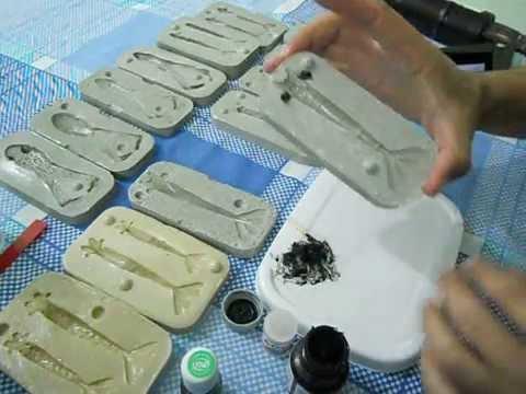 Fazendo iscas de silicone na forma de resina