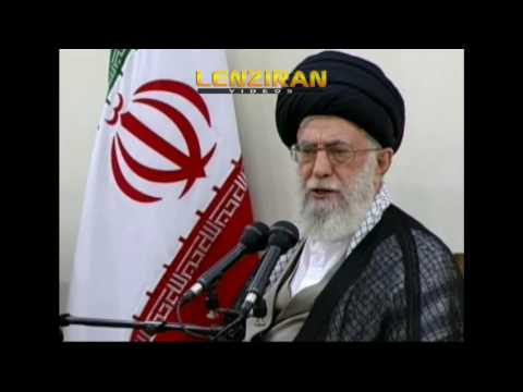 Sarcastic speech of  leader about nuclear deal in presence of Hassan Rohani & Hashemi Rafsanjani