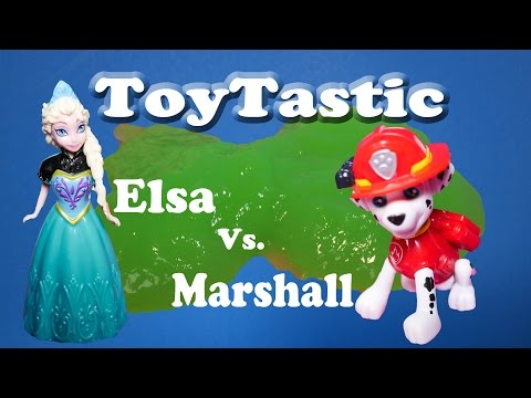 Toytastic Disney Frozen Elsa Vs Nickelodeon Paw Patrol Marshall A ...
