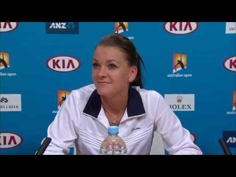 Agnieszka Radwanska press conference (3R) - Australian Open 2015