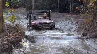 Honda pioneer mud riding in West Virginia