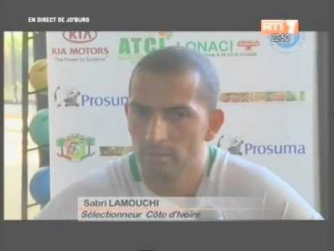 CAN 2013/Groupe D: Les vérités de Sabri Lamouchi après Côte d'Ivoire Togo (Extrait)