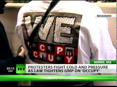 Snow and tough police action fail to deter - 'Occupy Wall Street'