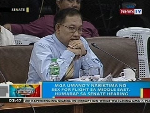 Bp: Mga Umano'y Nabiktima Ng Sex For Flight Sa Middle East, Humarap Sa Senate Hearing video