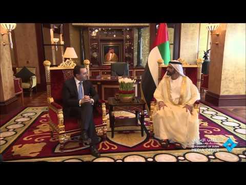 محمد بن راشد يستقبل رئيس وزراء جورجيا بحضور حمدان بن محمد 2014/09/17