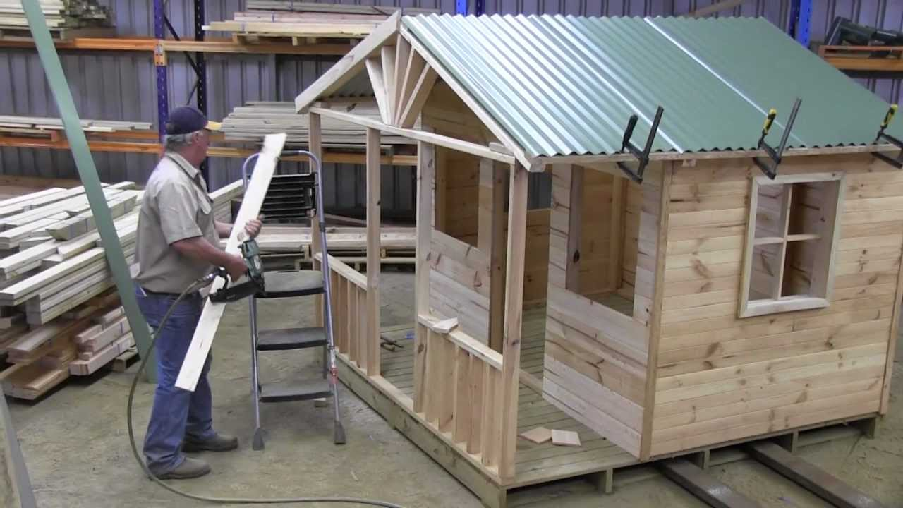 How to build a cubby house roof part 2 mts youtube for How to go about building a house