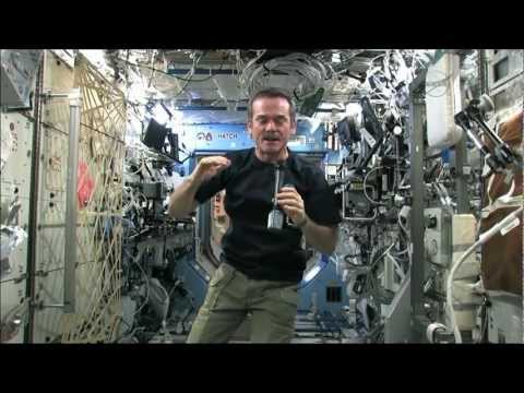 Chris Hadfield and some incredibly floating Canadian space food