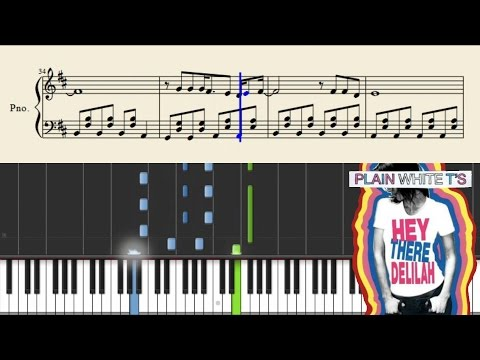 Plain White T's - Hey There Delilah - Easy Piano Tutorial + Sheets