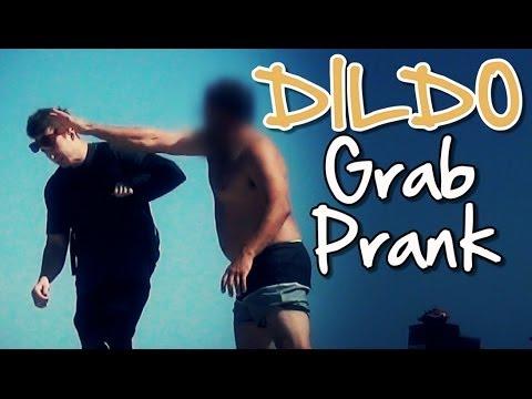 Dildo Grab Prank (HIT IN THE FACE!)