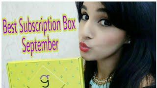No.1 ranked Subscription Box in India | GlamEgo Box - September | Unboxing & Review | Giveaway Open