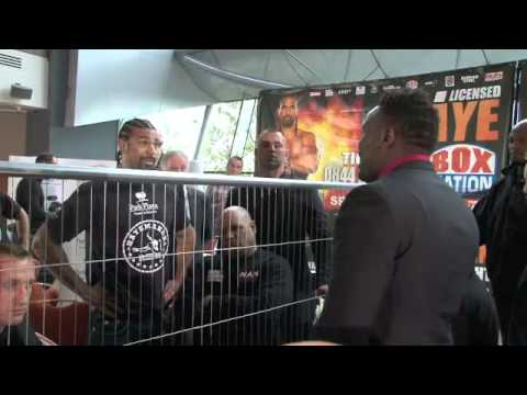 DAVID HAYE v DERECK CHISORA 2ND HEAD-TO-HEAD / FOR iFILM LONDON