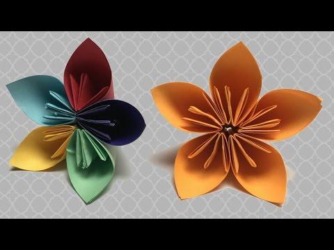 Kağıt Çiçek Nasıl Yapılır ? / Origami