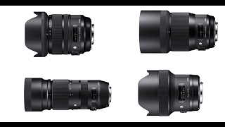 New Sigma Art Lenses! Sigma 14mm 1.8, 135mm 1.8, 24-70mm OS 2.8 & 100-400mm 5-6.3 Preview