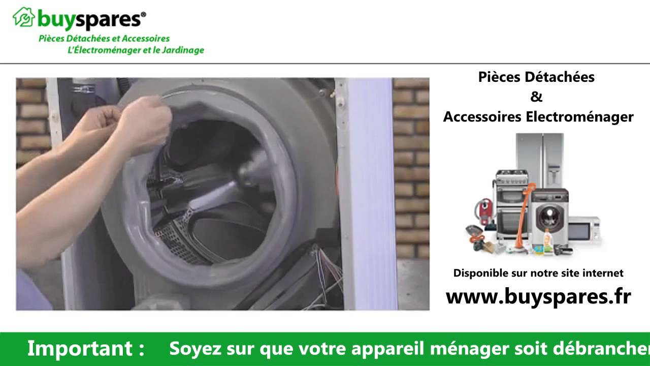 Comment remplacer le joint de porte d 39 une machine laver - Comment superposer machine a laver et seche linge ...