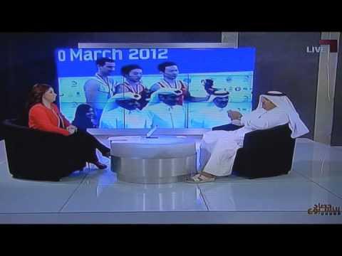 مقابلة رئيس الاتحاد القطري للجمباز في الدوري و الكأس