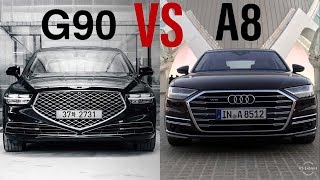 2020 Genesis G90 VS 2019 Audi A8  - Which The Best ?