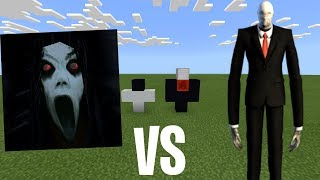 SLENDRINA vs SLENDERMAN in Minecraft PE