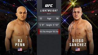 BJ Penn vs Diego Sanchez : Ea Sports UFC 3 Legendary Fights: UFC 3 Gameplay