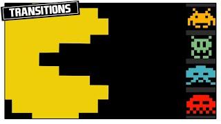 RETRO PACMAN TETRIS GAME VIDEO TRANSITIONS - FREE STOCK VIDEO ANIMATION OVERLAY [CCM)