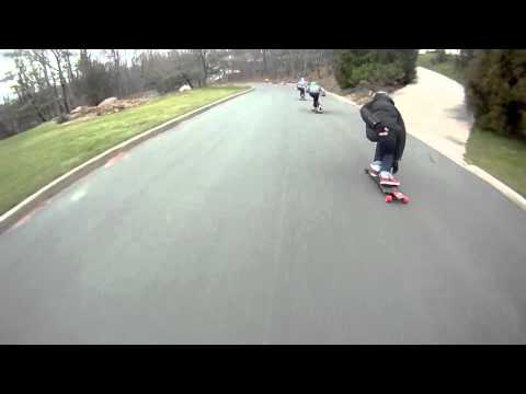 Downhill Longboard Head to Head Collision