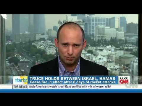"Bennett on CNN: ""First beat terror and then talk peace"""